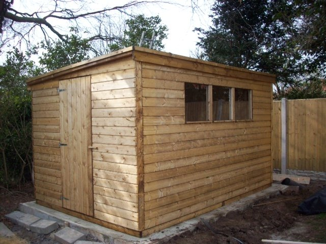 Pent Sheds of all sizes.